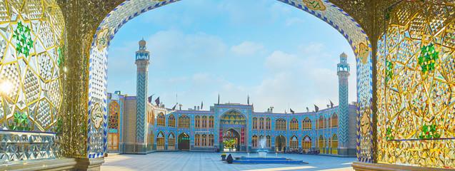 Panorama of Imamzadeh Helal Ali Holy Shrine, Aran o Bidgol, Iran