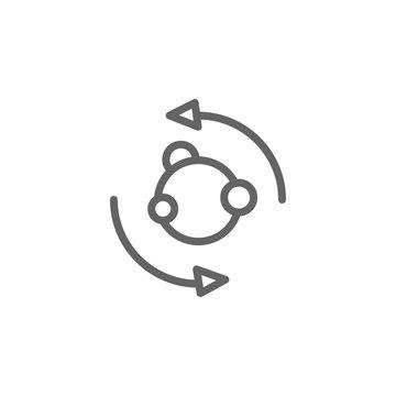 Metabolism, symbiosis icon. Element of bio engineering illustration. Thin line icon for website design and development, app development. Premium icon