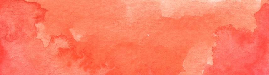 Orange abstract watercolor texture background. Fotoväggar