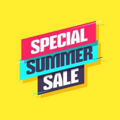 Special Summer Sale Shopping Label