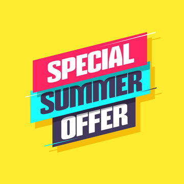 Special Summer Offer Shopping Label