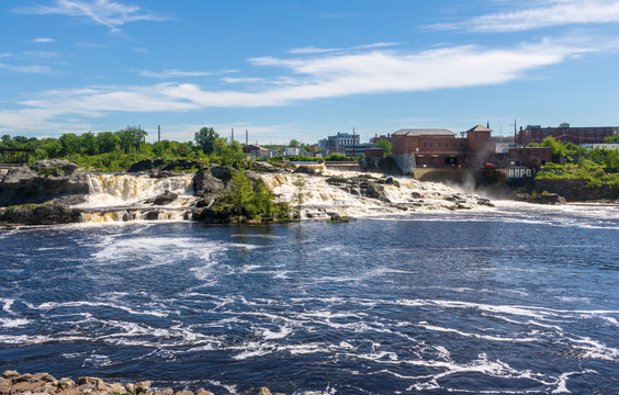 Lewiston Falls on the Androscoggin River