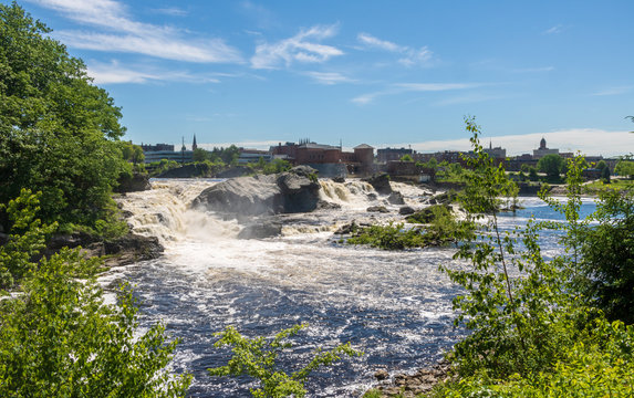 Great Falls and the Lewiston skyline