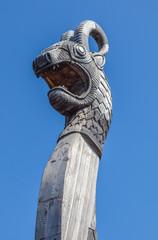 Dragon head on old drakkar