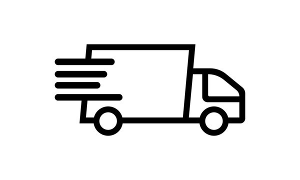 Fast shipping delivery truck or van icon vector image