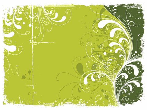 Fondo ornamental verde