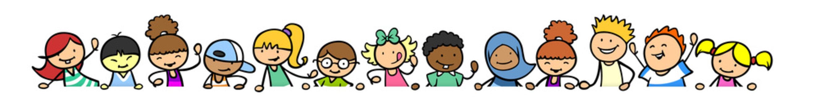 Kinder als Header Banner Dekoration Element