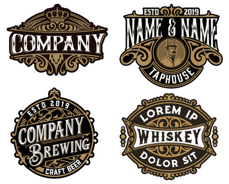 Four Old logos for packing