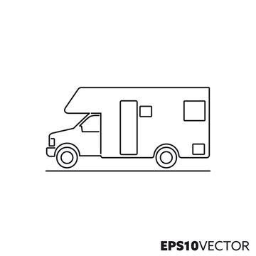 Motorhome vector line icon