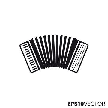 Accordion vector glyph icon