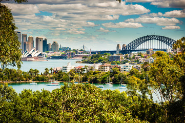 Canvas Prints Sydney Sydney Skyline taken from Taronga Zoo