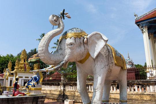 Elephant Statue at Damrey Sor Pagoda, Battambang, Cambodia
