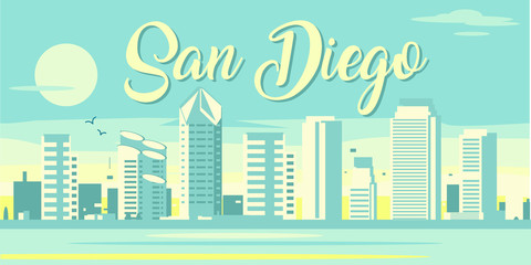 Wall Mural - San Diego California skyline