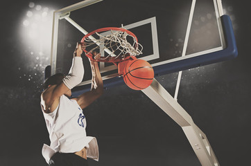 Man basketball player. Matte image