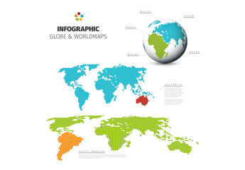 Word Map Informative Chart Layout with Dot Elements