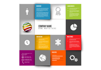 Company Profile Mosaic Grid Layout