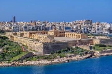 Door stickers Fortification View of Fort Manoel in Manoel island, Malta