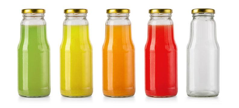 Juice glass bottle isolated