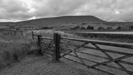 Pendle hill, lancashire. The hill is famous for its links to three events which took place in the 17th century: The Pendle witch trials 1612. England