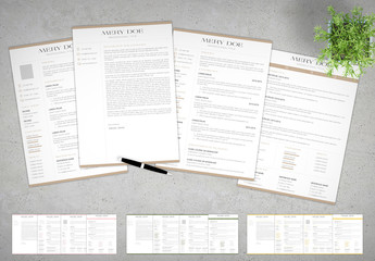 Resume with Colorful Header and Footer Accents
