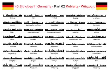 40 Big cities in Germany - Part 02 Koblenz - Würzburg