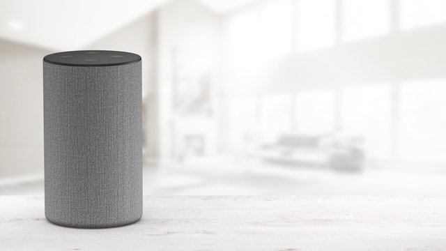 Smart speaker with voice control - Mockup