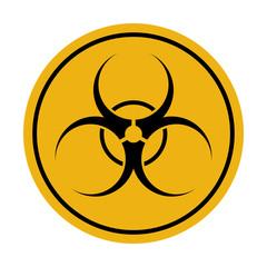 Biohazard icon, radiation caution, radiation hazard chernobyl. Vector illustration on white background.