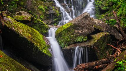 North Carolina Waterfall near Rosman and Brevard - Eastatoe Falls