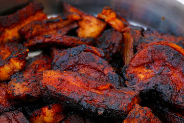 honey and paprika glazed barbecue pork belly