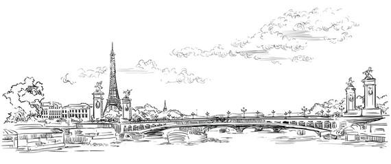 Fototapeta Vector hand drawing Paris 4 obraz