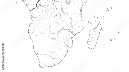 Map Of Africa Madagascar.World Map Of Africa Coastline And Madagascar South Africa Rhodesia