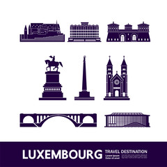 Wall Mural - Luxembourg  travel destination vector illustration.
