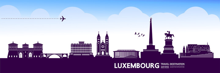 Fotomurales - Luxembourg  travel destination vector illustration.