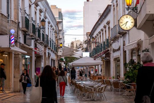 Street of Santo Antonio in Faro city