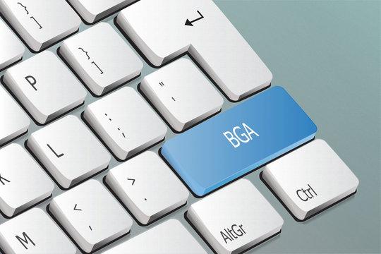 BGA written on the keyboard button