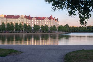 Helsinki cityscapes: Hakaniemi and Tokoinranta in sunset