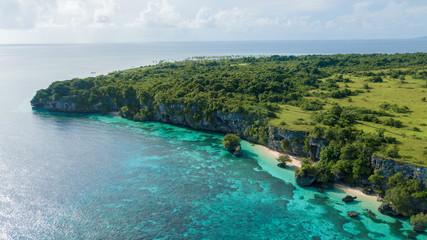 Printed kitchen splashbacks Zanzibar Beautiful aerial view of hill beside blue ocean with nice sky
