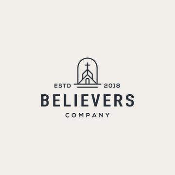 Church logo design concept. Universal church logo.