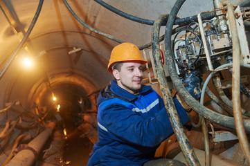 undeground working in tunnel
