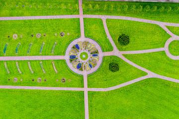 Die Stadt Killarney in Irland aus der Luft