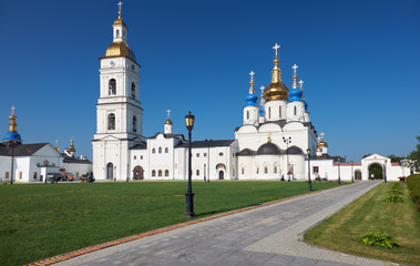St Sophia-Assumption Cathedral with the belfry. Tobolsk Kremlin. Tobolsk. Tyumen Oblast. Russia