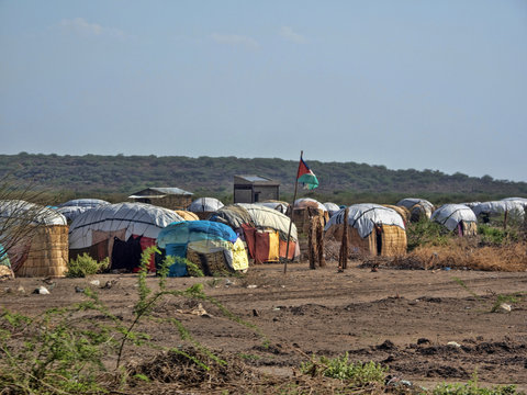 Endless slums of Somalis, living in utter poverty and despair. Afar Province, Ethiopia.