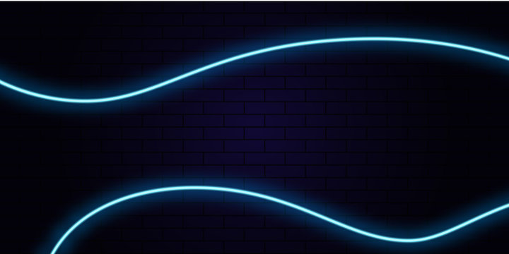 neon abstract line blue background