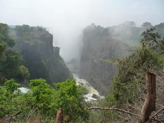 Canvas Prints Fantasy Landscape Afrika, Berg, Landschaft, Wasserfall, Canyon, Phantasy