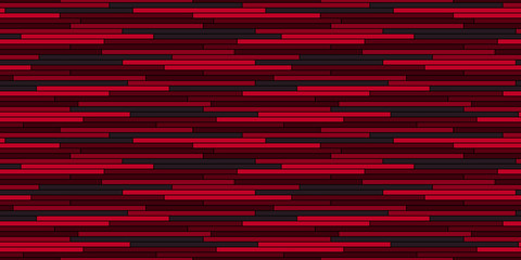 Abstract glitch irregular stripes seamless pattern  Red vector background