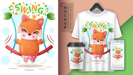 Swing fox - mockup for your idea