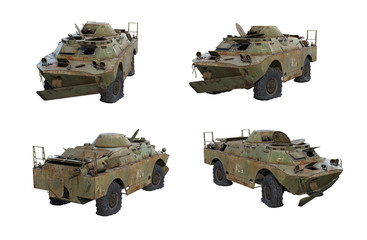 Fototapete - 3D-renders of rusty BRDM-2 Rch from Chernobyl Exclusion Zone