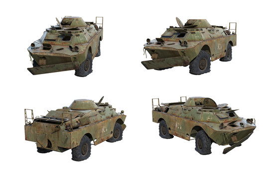 3D-renders of rusty BRDM-2 Rch from Chernobyl Exclusion Zone