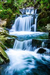 Photo sur Toile Cascades waterfall - rottach-egern - bavaria