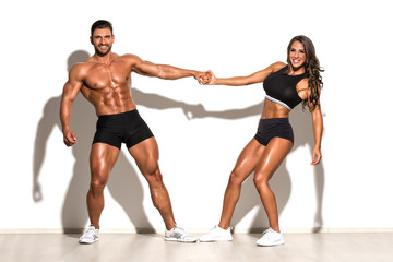 Beautiful Fitness Couple Posing Together